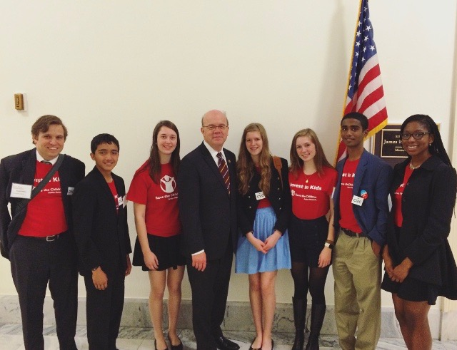 Deerfield Academy students with U.S. Rep Jim McGovern