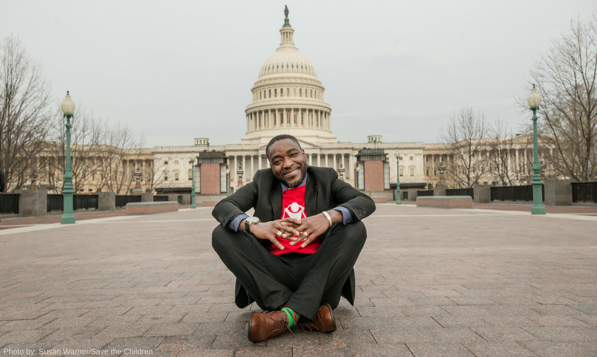 Theo Ouendraogo, a graduate student and SCAN intern, at the capitol
